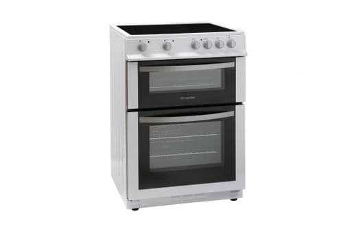 MONTPELLIER WHITE 60CM ELECTRIC COOKER WITH DOUBLE OVEN AND CERAMIC HOB [dd]