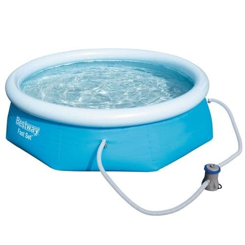 Bestway Round Inflatable Fast Set Paddling Pool - 8ft x 26in