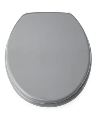 Blue Canyon MDF Toilet Seat With Stainless Steel Hinges - Grey