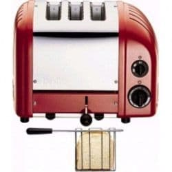 2 + 1 Combi Toaster  Red