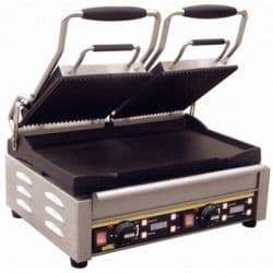 Double Contact Grill  Ribbed Top Plate/Flat Base Plate