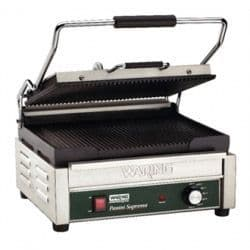 Double Panini Grill  Ribbed Plates