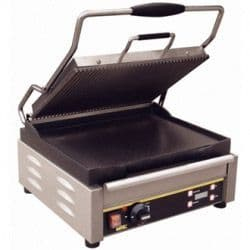 Large Single Contact Grill  Ribbed Top Plate/Flat Base Plate