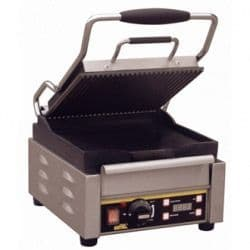 Single Contact Grill  Ribbed Top Plate/Flat Base Plate
