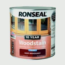 Ronseal 10 Year Woodstain Satin 750ml - Deep Mahogany