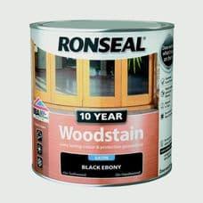 Ronseal 10 Year Woodstain Satin 750ml - Ebony