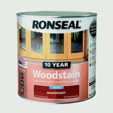Ronseal 10 Year Woodstain Satin 750ml - Mahogany