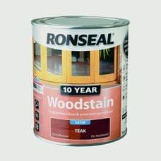 Ronseal 10 Year Woodstain Satin 750ml - Teak
